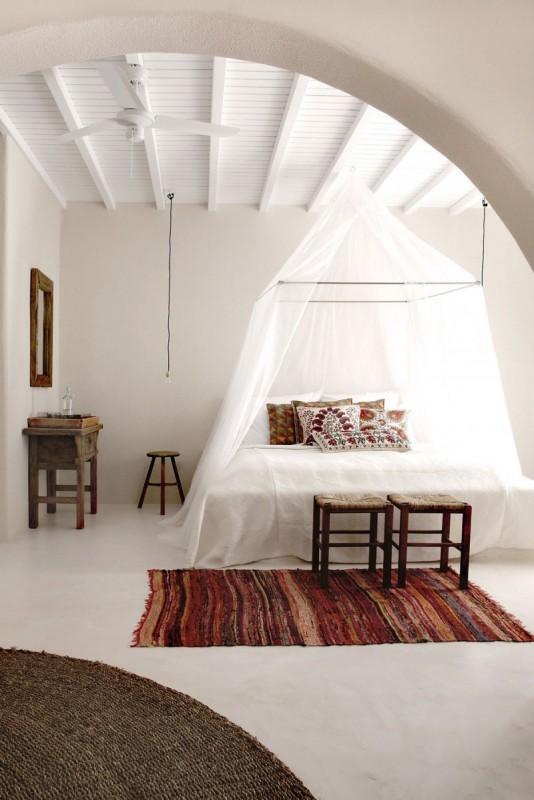 Interior boem in hotel din insula Mykonos