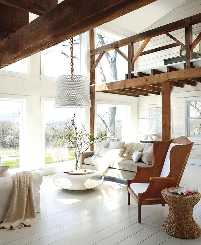 Amenajarea unui interior de living in al cu vopseluri Bnejamin Moore