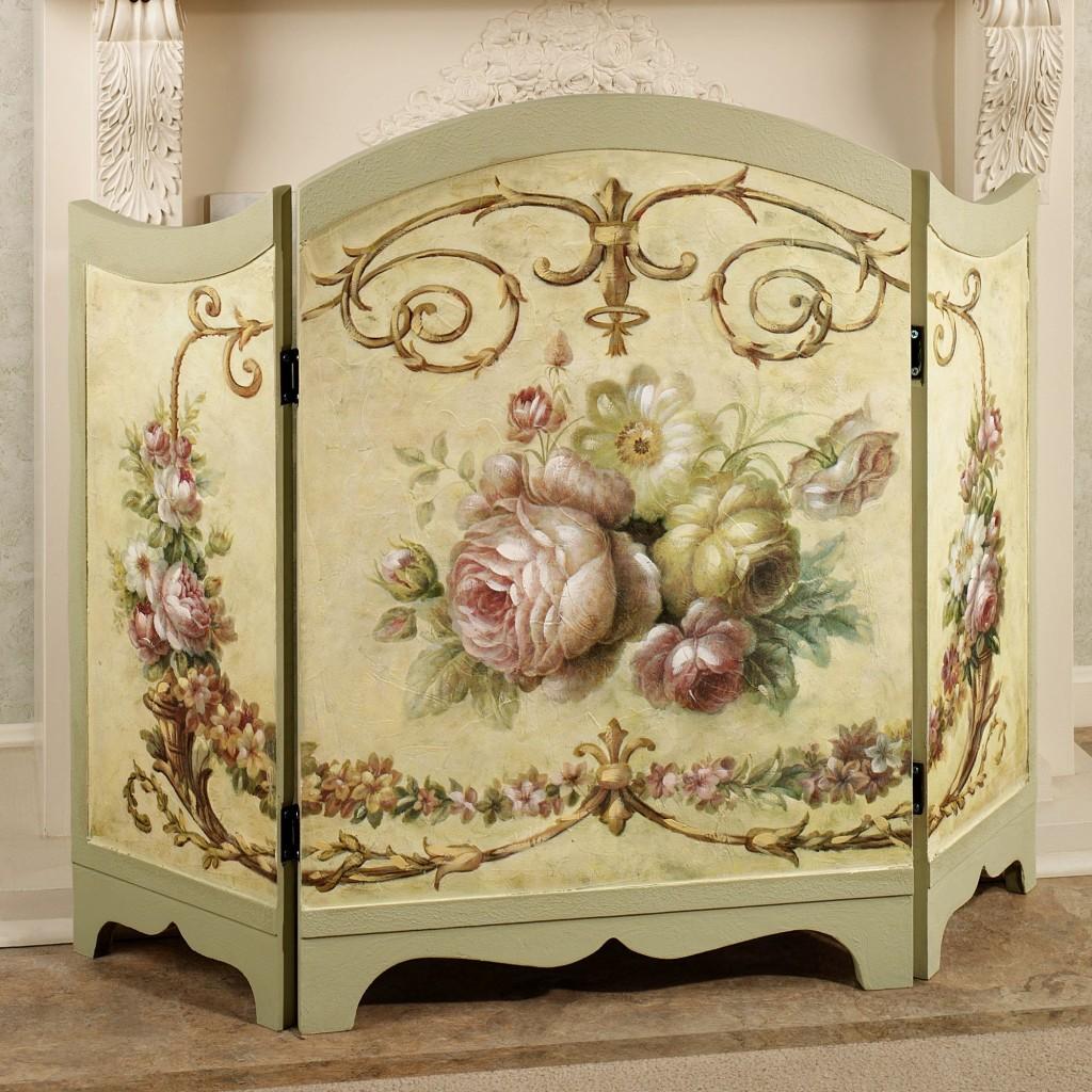 paravan-decorativ-pictat-cu-motiv-decorativ-trandafiri