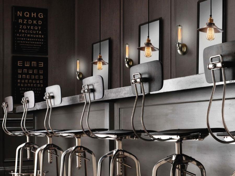 Bar in stil vintage industrial