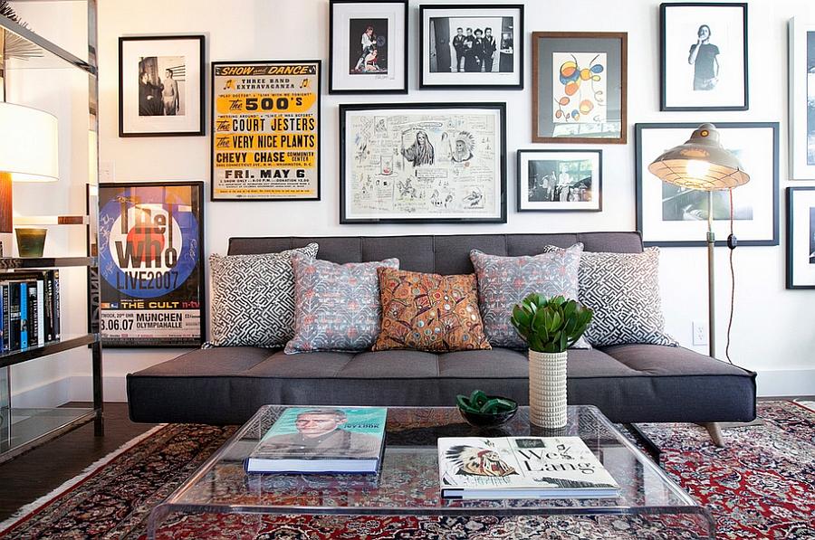 amenajare in stil masculin - living eclectic cu mobila minimalista