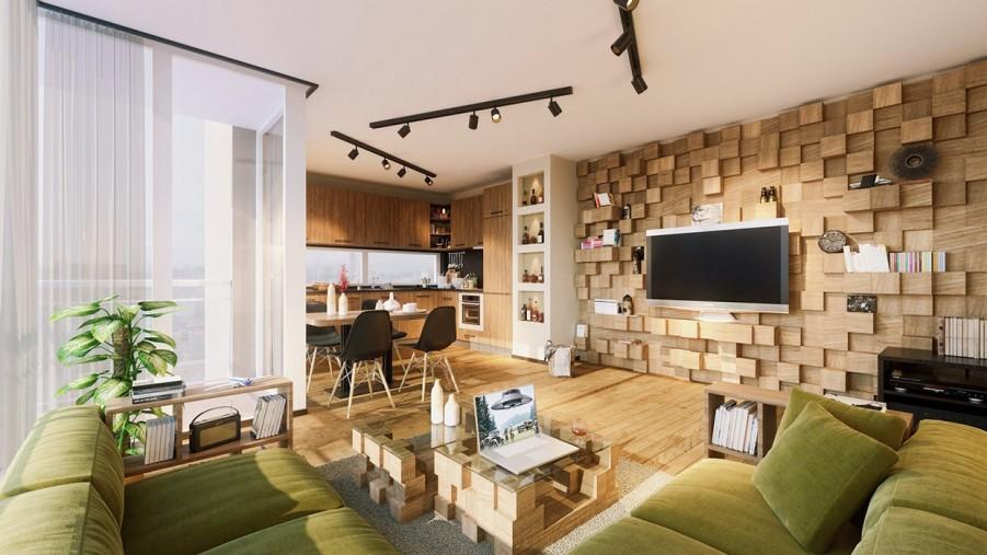 living-cu-perete-placat-cu-lemn