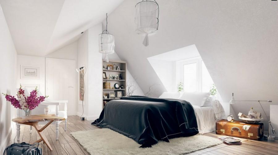 Cum sa amenajezi un dormitor modern la mansarda