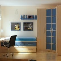 amenajarea-dormitoarelor-mici-camera-de-copil-cu-birou-pat-sifonier-pe-colt