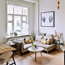 Amenajarea unui living mic cu mobilier scandinav