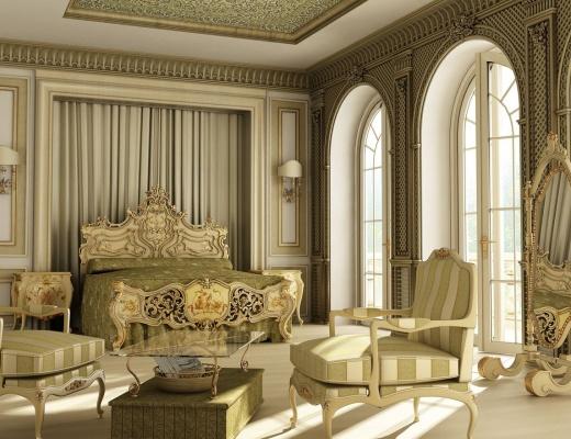 Interior in stil rococo