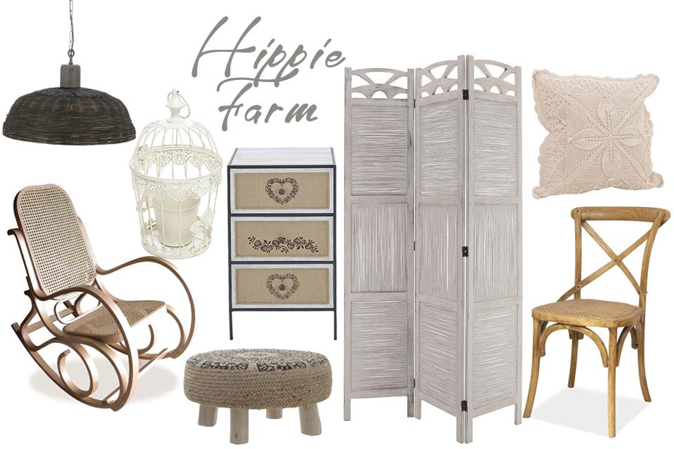Hippie farm la tine acasă cu decorațiuni rustice