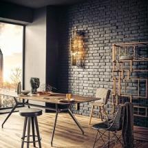 Amenajarea primului apartament în stil industrial - biroul