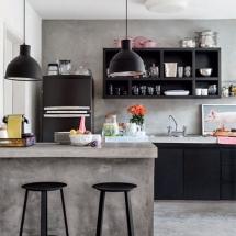Amenajarea primului apartament în stil industrial - bucatarie open space