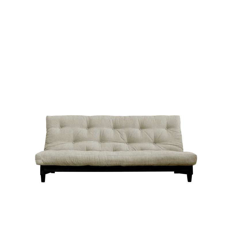 Canapea extensibilă textil bej in Fresh Black