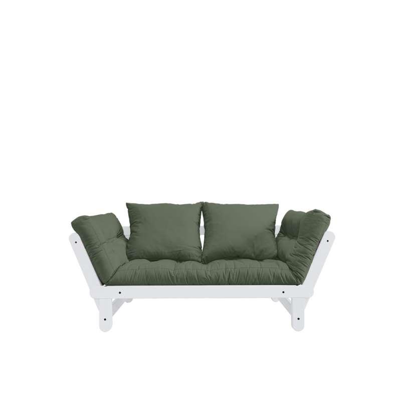 Canapea extensibilă oliv Beat White
