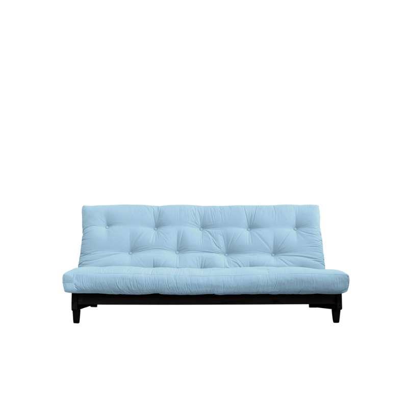 Canapea extensibilă textil bleu deschis Fresh Black