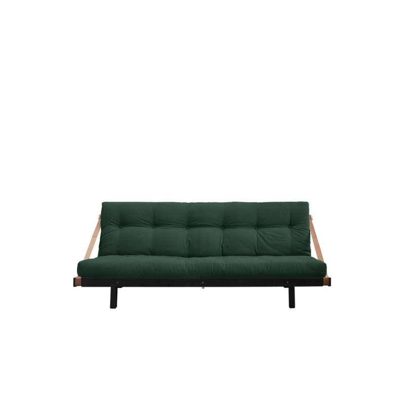 Canapea extensibilă textil verde Jump Black