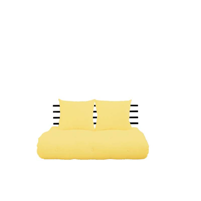 Sofa Extensibila Textil Galben Shin Sano Black