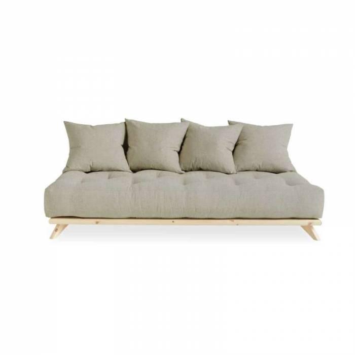 Canapea 3 locuri, stil scandinav, bej in Senza Natur