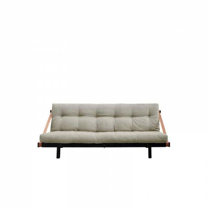 Canapea extensibilă textil bej in Jump Black
