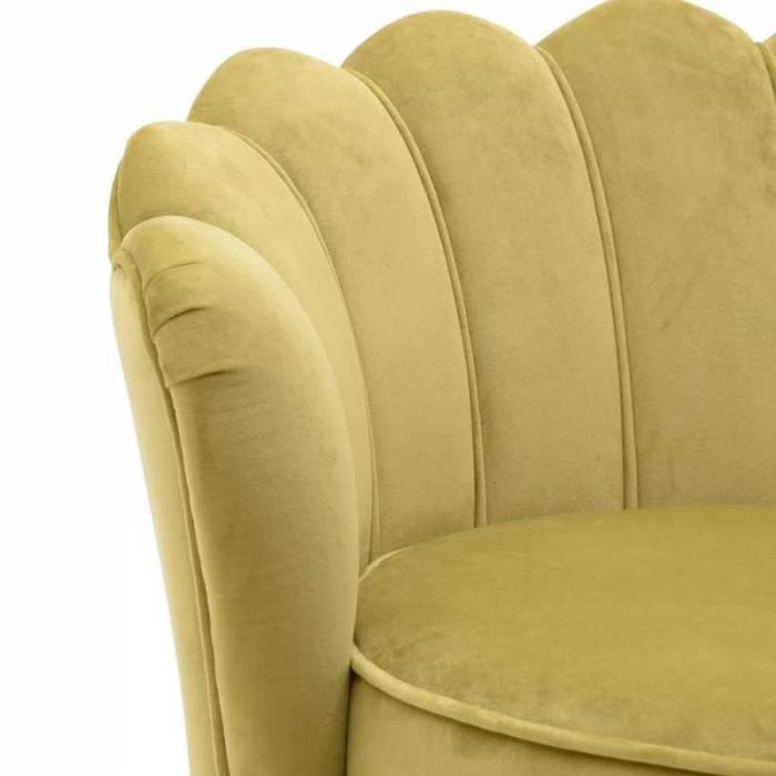 Canapea galbenă în stil glamour Brenna