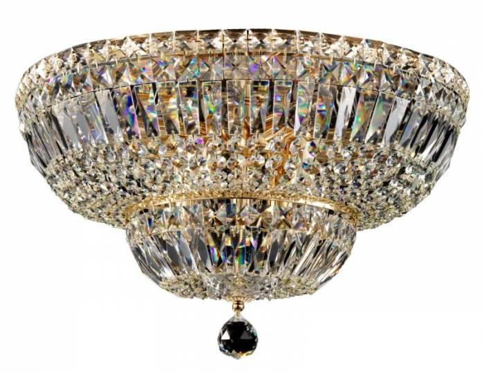 Candelabru auriu cu 12 becuri Basfor