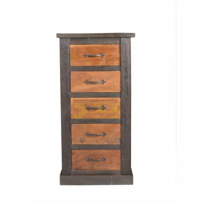 Comodă cinci sertare din lemn și metal Monte Cristo