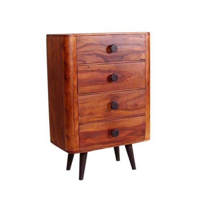 Comodă cu patru sertare din lemn de palisandru Shewa