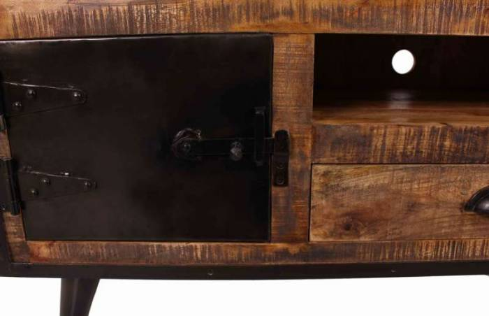 Comodă TV din lemn și metal Vinyl