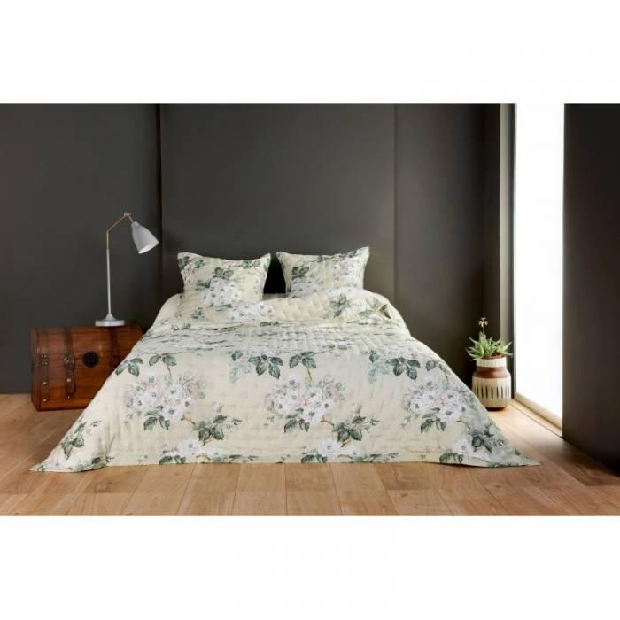 Cuvertură de pat cu flori albe Nadia 230x250 cm