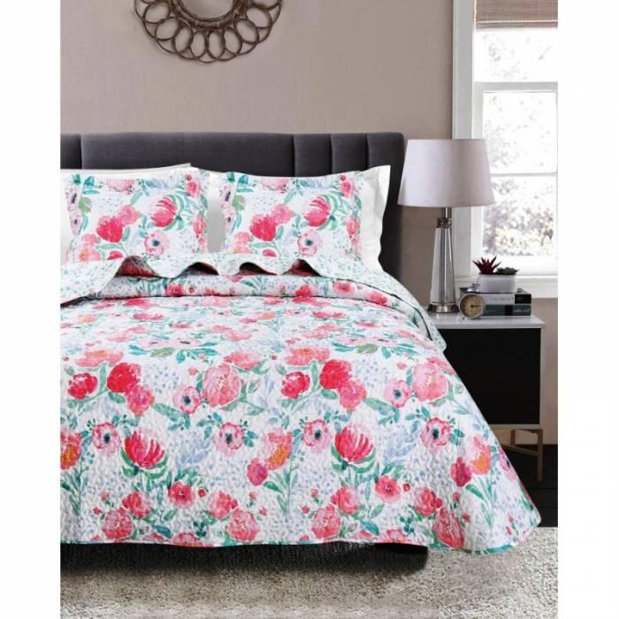 Cuvertură de pat cu flori Mia 180x270 cm