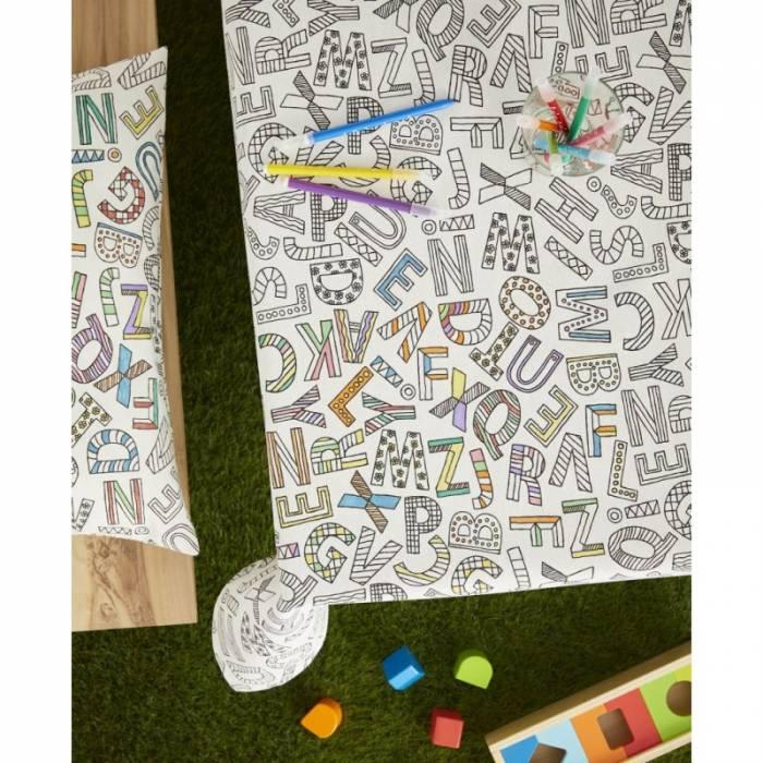 Față de masă pentru copii de colorat Alphabet 150x150 cm