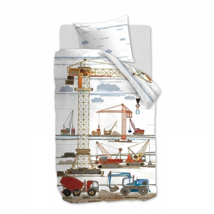 Lenjerie de pat pentru copii Building Site 140x200 cm