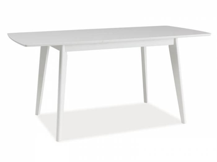 Masă de dining extensibilă albă Lidia