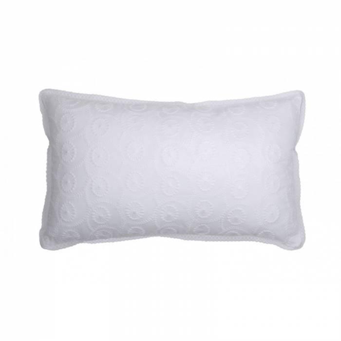 Pernă albă din bumbac Heleonore Blanc 30x50 cm