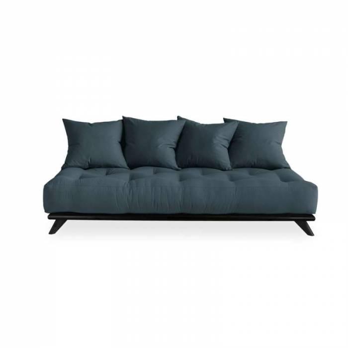 Canapea 3 locuri, stil scandinav, albastru petrol Senza Black
