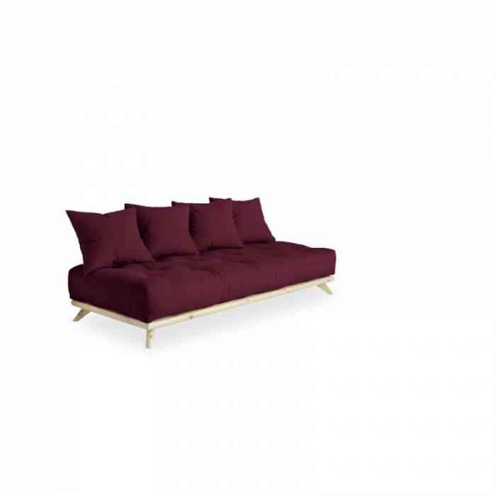 Canapea 3 locuri, stil scandinav, bordo Senza Natur