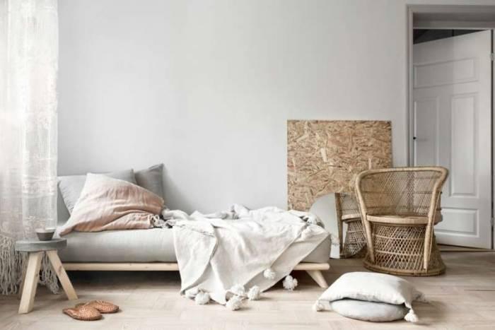 Canapea 3 locuri, stil scandinav, gri închis Senza Natur