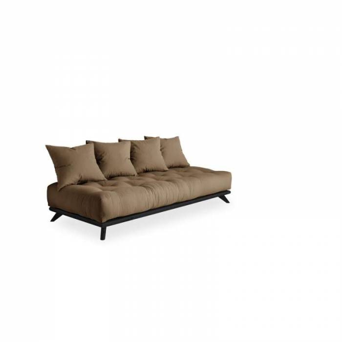 Canapea 3 locuri, stil scandinav, maro cafea Senza Black