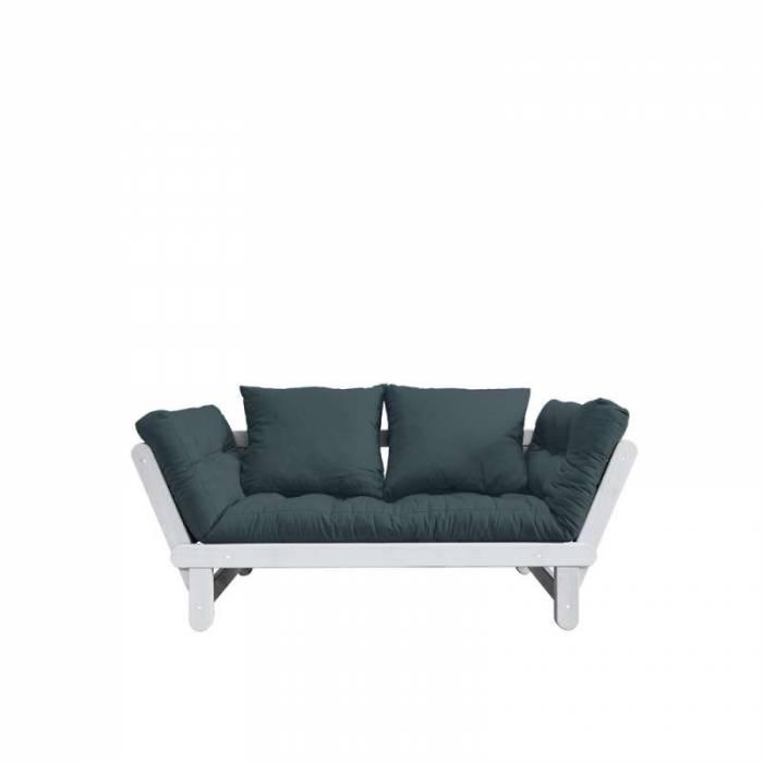 Canapea extensibilă albastru Beat White