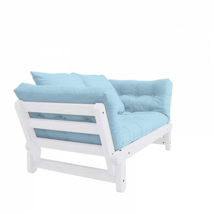 Canapea extensibilă bleu deschis Beat White