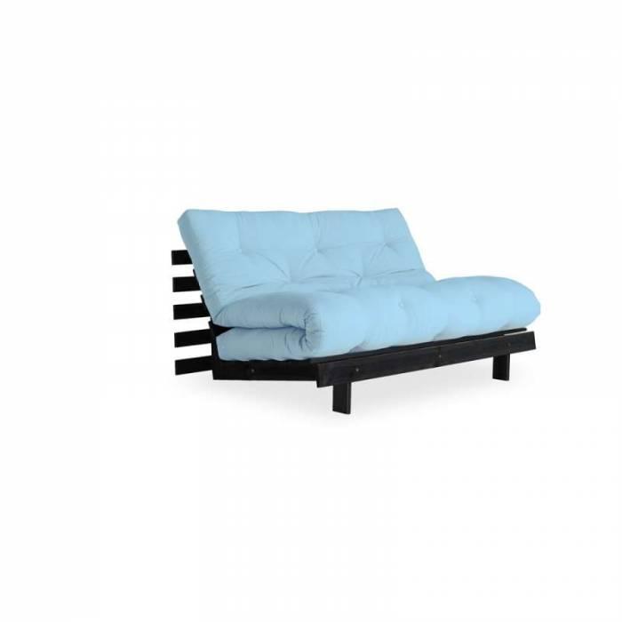 Canapea extensibilă bleu deschis Roots Black