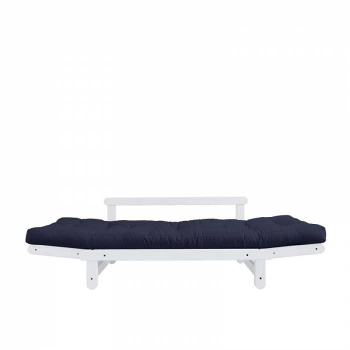 Canapea extensibilă bleumarin Beat White