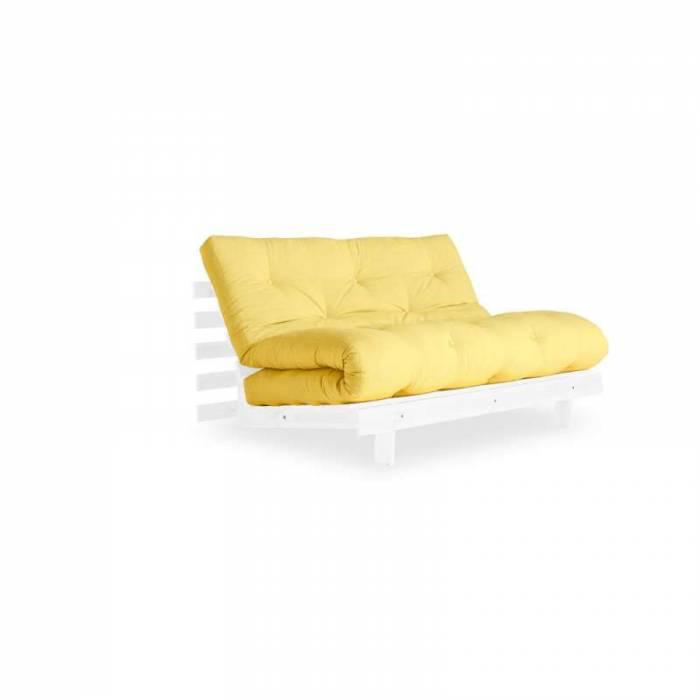 Canapea extensibilă galbenă Roots White