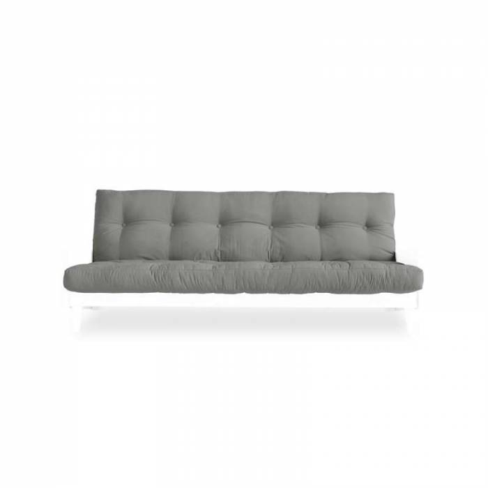 Canapea extensibilă gri 3 locuri Indie White
