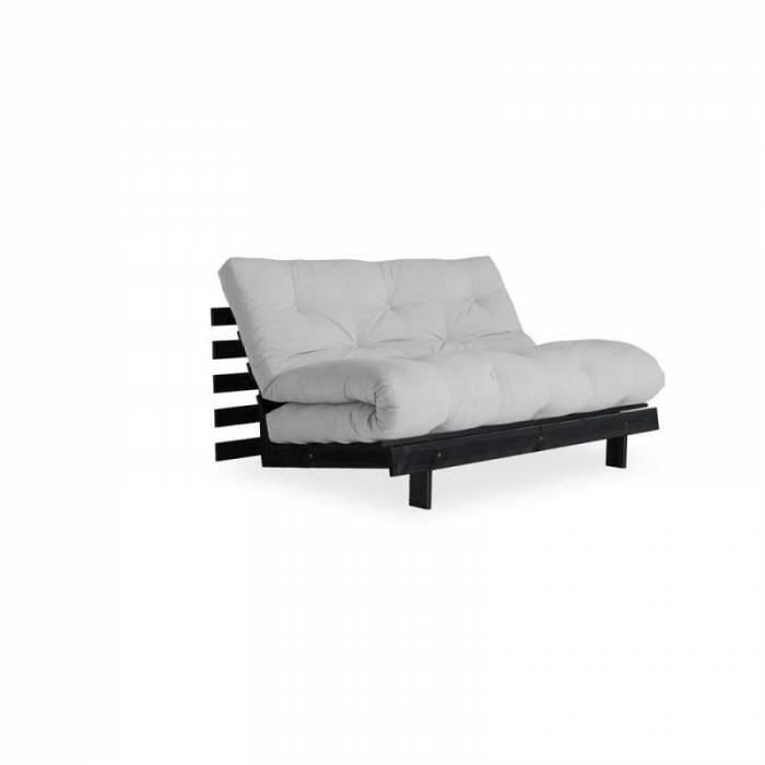 Canapea extensibilă gri deschis Roots Black
