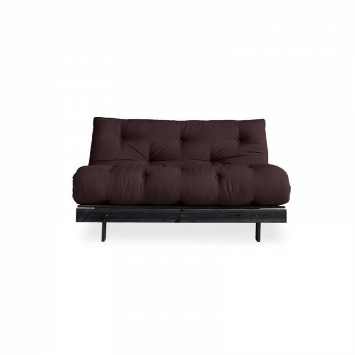 Canapea extensibilă maro Roots Black
