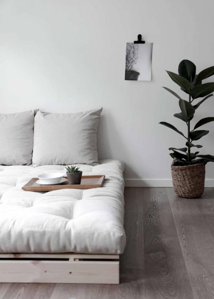 Canapea extensibilă oliv Roots White