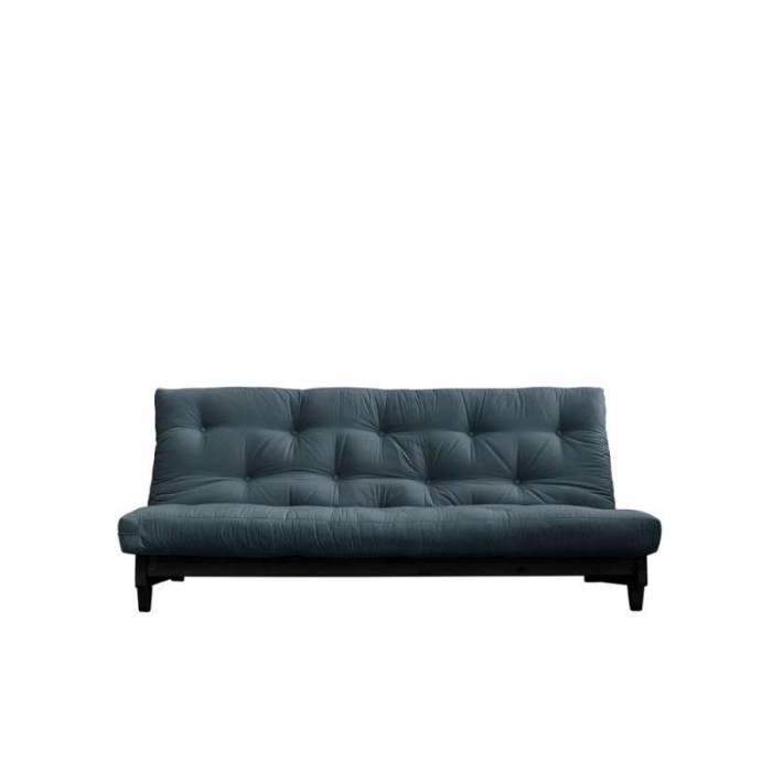 Canapea extensibilă textil albastru petrol Fresh Black