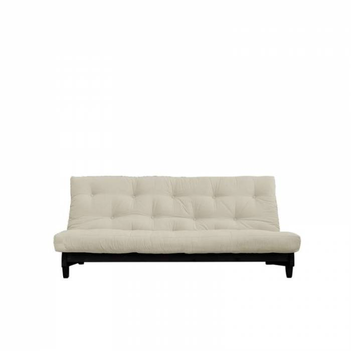 Canapea extensibilă textil bej Fresh Black