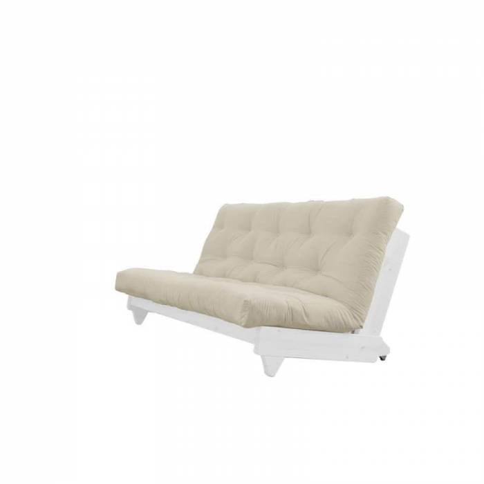 Canapea extensibilă textil bej Fresh White