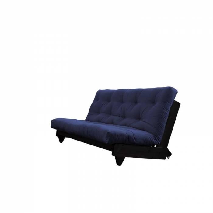Canapea extensibilă textil bleumarin Fresh Black
