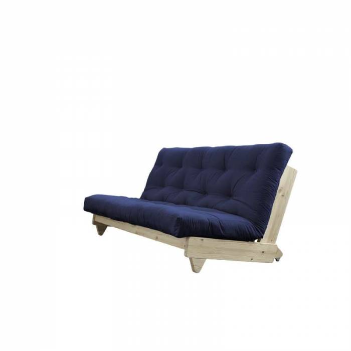 Canapea extensibilă textil bleumarin Fresh Natur
