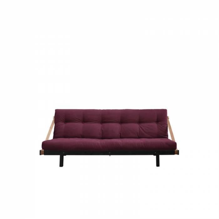Canapea extensibilă textil bordo Jump Black